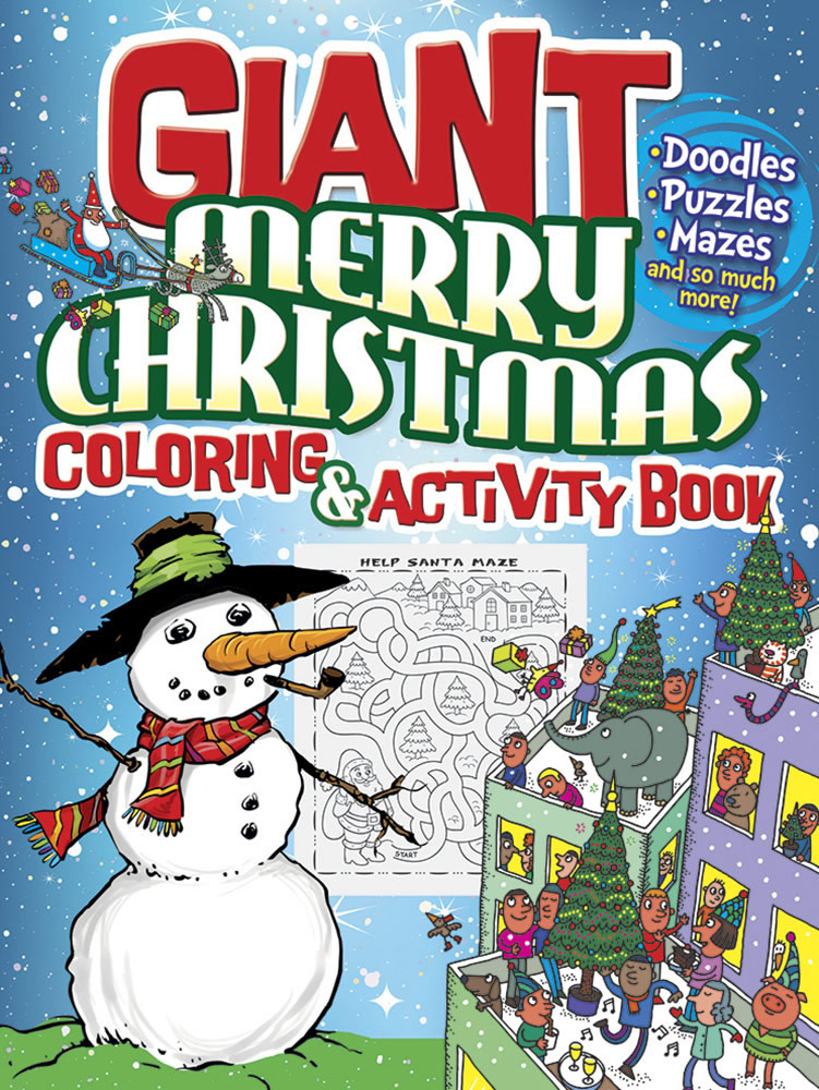 GIANT Merry Christmas Coloring & Activity Book|ドーヴァー社|