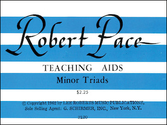 Flash Cards, Minor Triads|ペース, Robert|ハル・レナード社|
