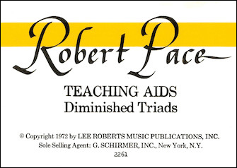 Flash Cards, Diminished Triads|ペース, Robert|ハル・レナード社|